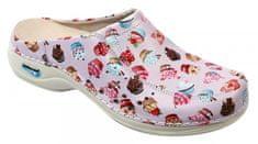 Nursing Care BERLIM pracovní kožená pratelná obuv s certifikací dámská bez pásku dortíky WG4AF30 Nursing Care Velikost: 35