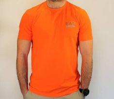 Emporio Armani Pánské tričko Emporio Armani, oranžové - S
