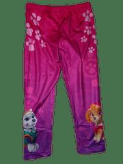 Nickelodeon Dívčí růžovofialové legínky s tlapkami a pejsky z patroly.
