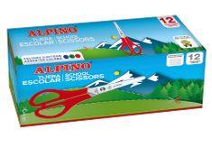 Alpino Balenie 12ks školských nožníc Alpino 130 mm