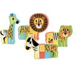 Vilac Magnetické dřevěné puzzle Safari
