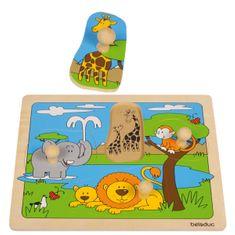 Beleduc Knoflíkové puzzle AFRIKA