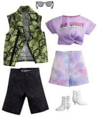 Mattel Barbie in Ken Fashion Rock oblačila, 2 kosa