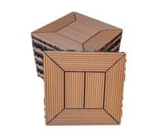 NEXTWOOD WPC dlaždice 30x30 cm, barva timber, 1 m2 (11 ks)