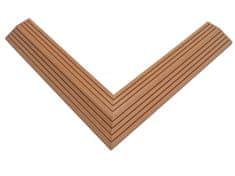 NEXTWOOD Dvoudílná rohová lišta k WPC dlaždicím, barva timber