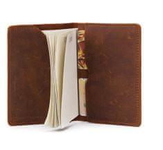 Daklos Pouzdro na pas a karty z pravé hovězí kůže