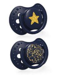 LOVI Dudlík silikonový dynamický Stardust 0-3m 2ks