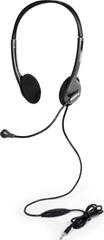 Port Connect Stereo headset s mikrofónom, čierna