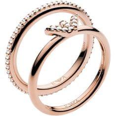 Emporio Armani Moderné dvojitý oceľový prsteň EG3462221