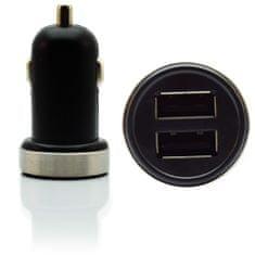 Pama punjac za automobil, dvostruki USB, 2,1 A, crni