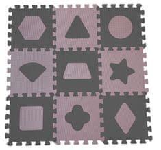 BabyDan Hracia podložka puzzle Geometrické tvary, rose 90x90 cm