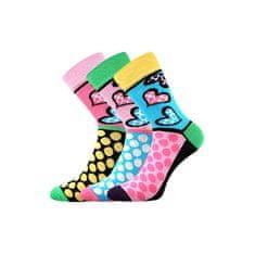 Fuski - Boma 3PACK ponožky vícebarevné (Ivana 55)
