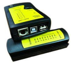 W-STAR Tester UTP + USB, měří RJ 45, USB A-A, USB A-B kabely