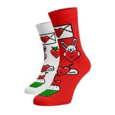 BENAMI Veselé ponožky Valentýn Červená 35-38