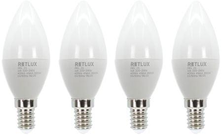 Retlux REL 25 LED C37 4x5 W E14 WW