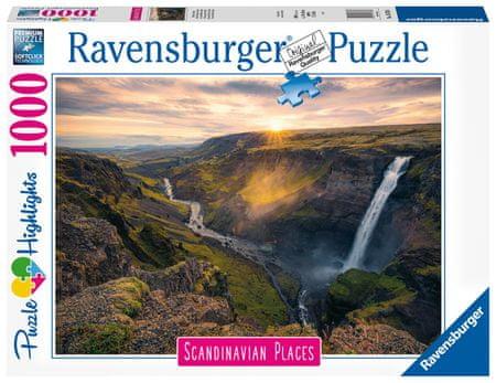 Ravensburger Puzzle 167388 Skandinávia Haifoss vízesés, Izland 1000 darabos