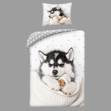 Povlečeme vše Pamut ágynemű husky kutya + pamut hátizsák