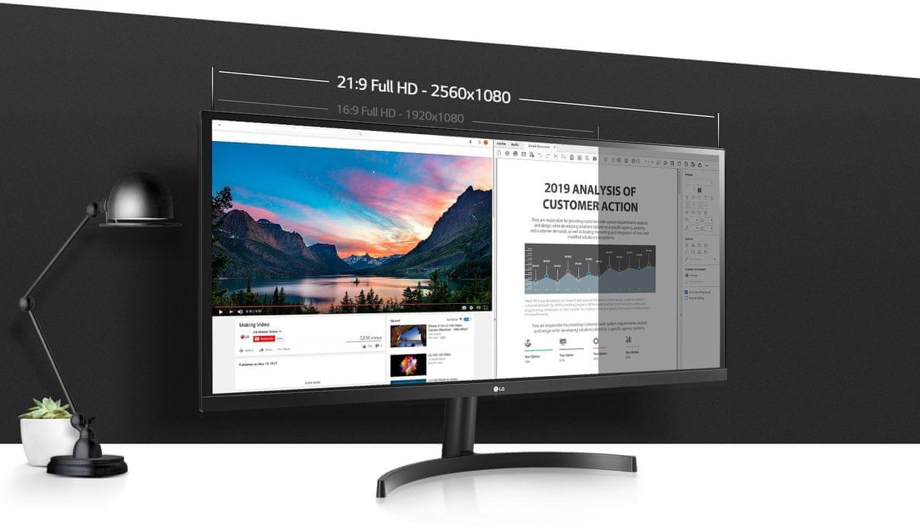 herní monitor LG 34WL50S (34WL50S-B.AEU) PiP 2560 × 1080 IPS