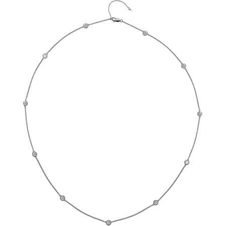 Hot Diamonds Luksuzna srebrna ogrlica s topazom in resničnim diamantnim vrhom DN131 srebro 925/1000