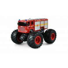 Amewi Trade HASIČI MonsterTruck 2WD 1:18, LED, zvukový modul, offroad pneu, až 15 km/h, RTR