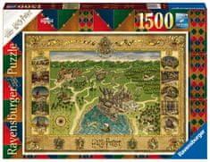 Ravensburger Puzzle 165995 Roxfort térképe 1500 darab