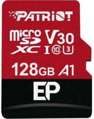 Patriot microSDXC 128GB V30 A1 Class 10 U3 + adaptér (PEF128GEP31MCX)