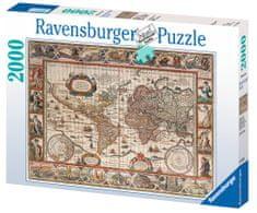 Ravensburger Puzzle 166336 - Világtérkép, 2000 darabos