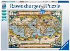 Ravensburger Puzzle 168255 - Utazás a világ körül, 2000 darabos