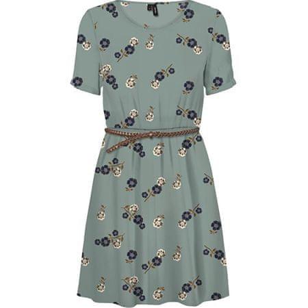 Vero Moda Női ruha VMFALLIE BELT 10233523 Green Milieu (Méret XL)