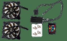 Eurocase Ventilátor pro PC RGB 120mm, set 2ks + controller