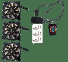 Eurocase Ventilátor pro PC RGB 120mm, set 3ks + controller