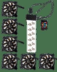 Eurocase Ventilátor pro PC RGB 120mm, set 6ks + controller
