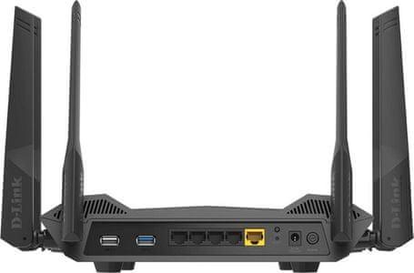 Router D-Link DIR-X1860 (DIR-X1860) Wi-Fi 2,4 GHz 5 GHz RJ45 LAN WAN Firewall MU-MIMO Google Assistant Amazon Alexa
