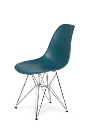 shumee Krzesło DSR SILVER marynarski niebieski .23 - podstawa metalowa chromowana