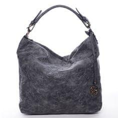 Dudlin Dámská trendy kabelka přes rameno šedá, Daisy