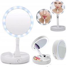Alum online Lusterko kosmetyczne podświetlane makijażu LED