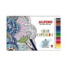Alpino Kovová škatuľka 36 farebných ceruziek Premium Color Experience