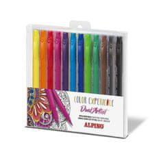 Alpino Balenie 12ks fixiek Color Experience s dvojitým hrotom
