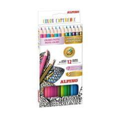 Alpino Balenie 12 ceruziek prémiových pastelových a metalických farieb