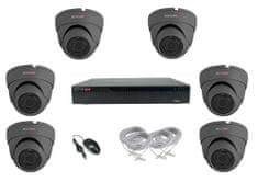 Monitorrs Security IP 6 kamerový set 5 Mpix Dome