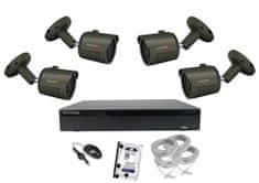Monitorrs Security IP 4 kamerový set 5 Mpix Tube
