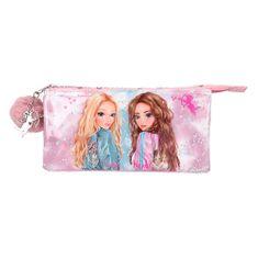 Top Model Dvojni žep z zadrgo , Roza, z dlakavo kroglico, Candy + Hayden