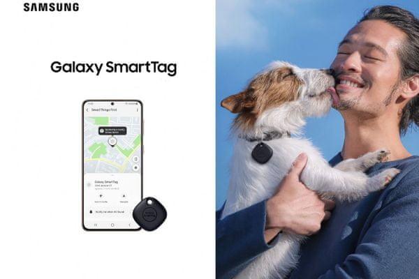 inteligentný prívesok gps lokátor galaxy smarttag samsung pre hľadanie kľúčov peňaženky kabelky domácich zvierat smartthings find offline vyhľadávanie miniatúrne rozmery pekný vzhľad Bluetooth dosah 120 m 4 ks