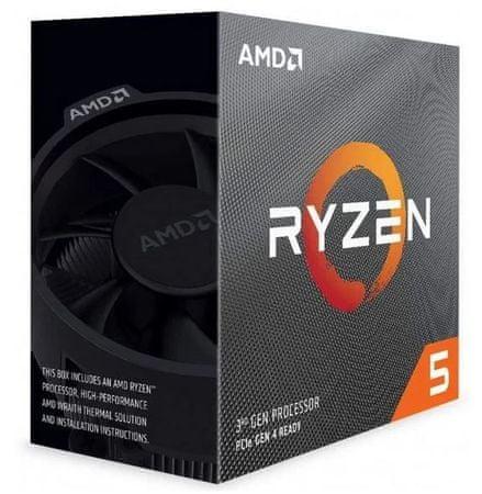 AMD Ryzen 5 3600 procesor, Wraith Stealth hladilnik, 65 W (100-100000031MPK)