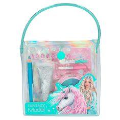 Top Model Kozmetična torba Fantasy Model, Šablone, 2x čopič, senčila za oči, svinčnik, tuba z bleščicami