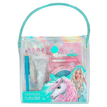 Top Model Kozmetikai táska Fantasy Model, Stencilek, 2x ecset, szemhéjfesték, ceruza, tubus csillogással