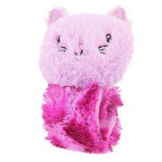 Princess Mimi Ohebný reaktivní pásek s postavičkou , Fialovo-růžový s kočičkou