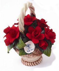 Napoleon ITA Porcelánové ruže v malom košíku 1621/09