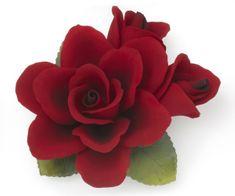 Napoleon ITA Porcelánová ruža 2ks kvetov na kmeni 1488/17