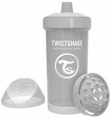 Twistshake Fľaša pre deti 360 ml 12+ m Pastelovo sivá